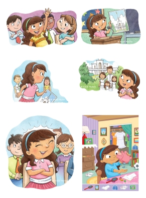 Illustrations for The Liahona Magazine. Watercolor and Adobe Illustrator