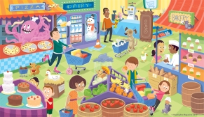 Illustration for Highlights Pre-K Activity Book