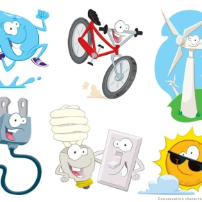 Character designs for SDG&E Kids' website